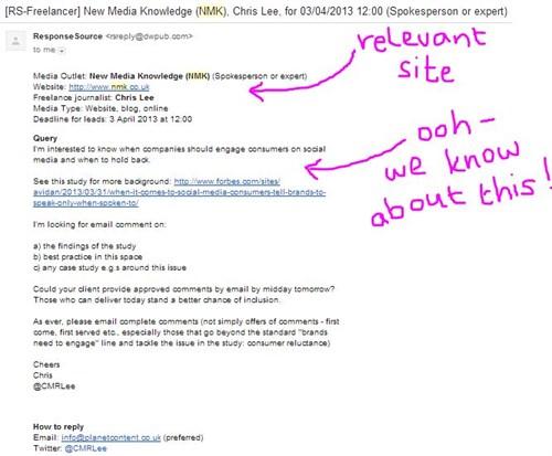response source screenshot