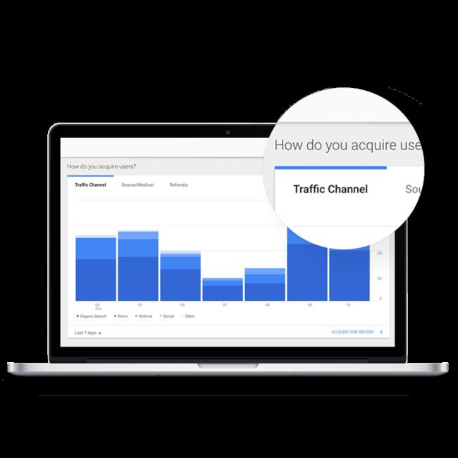 macbook monitor displaying SEO bar graph