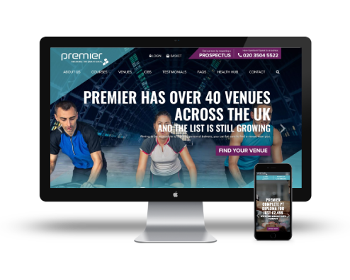 desktop and mobile devices displaying new and improved global premier site