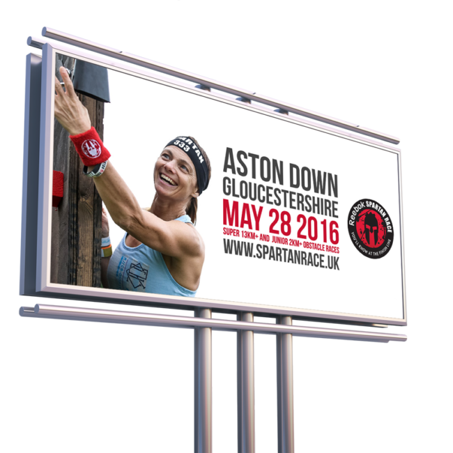 Spartan Race billboard design
