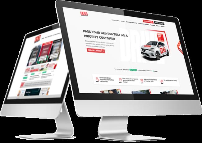 RED Driving School website
