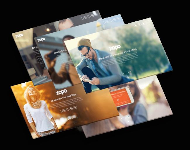 Web page design showcase