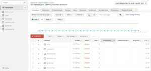 How the old AdWords interface looks