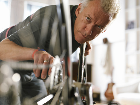 Bicycle repair shop photograph