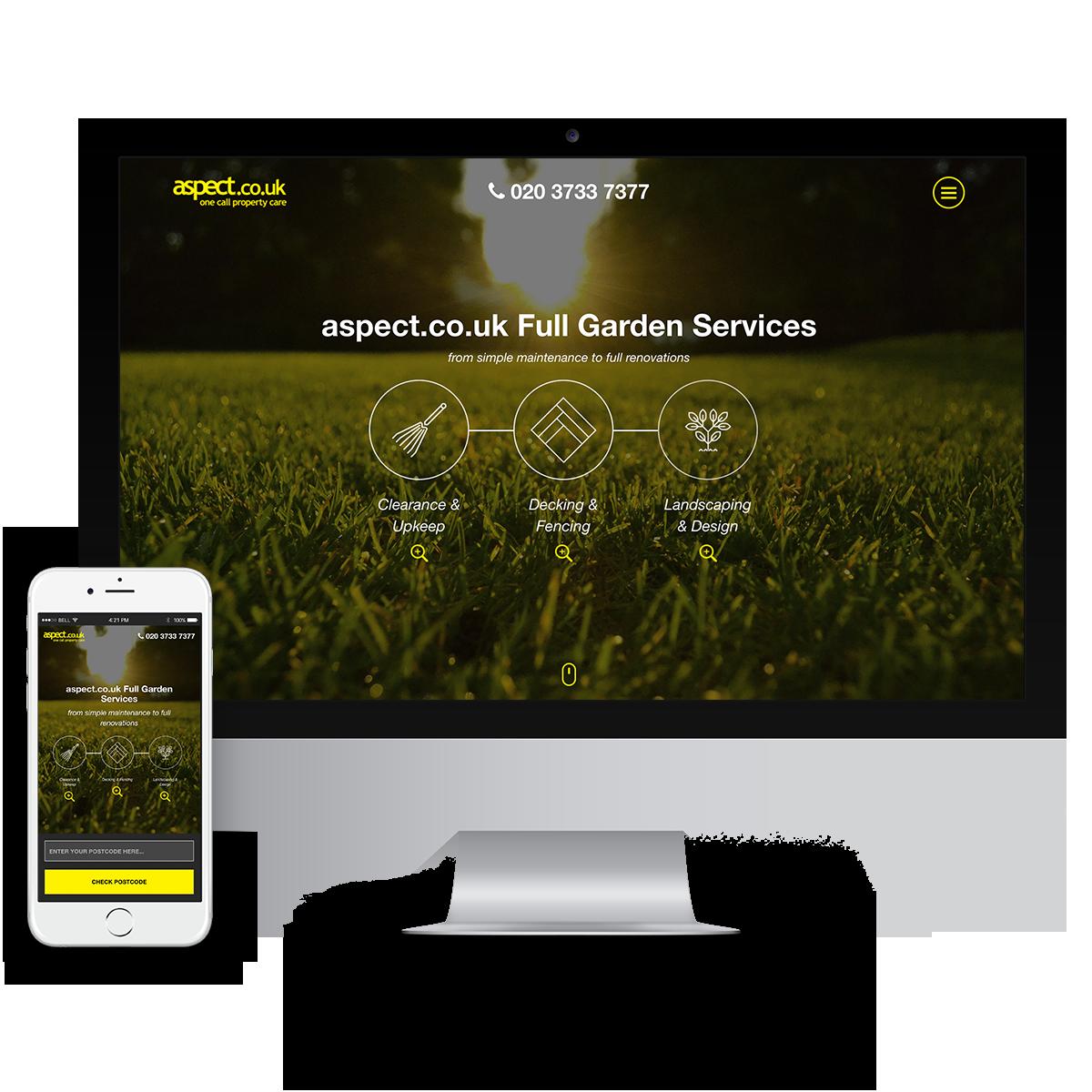 Landing Page: Aspect
