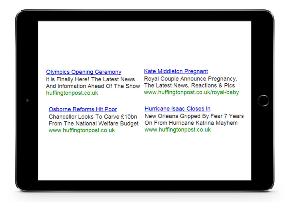 Showcase of atom42's PPC ads that were made for Huffington Post UK.