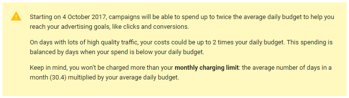 image of AdWords message