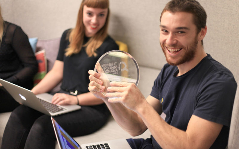 Search Awards 2015 trophy