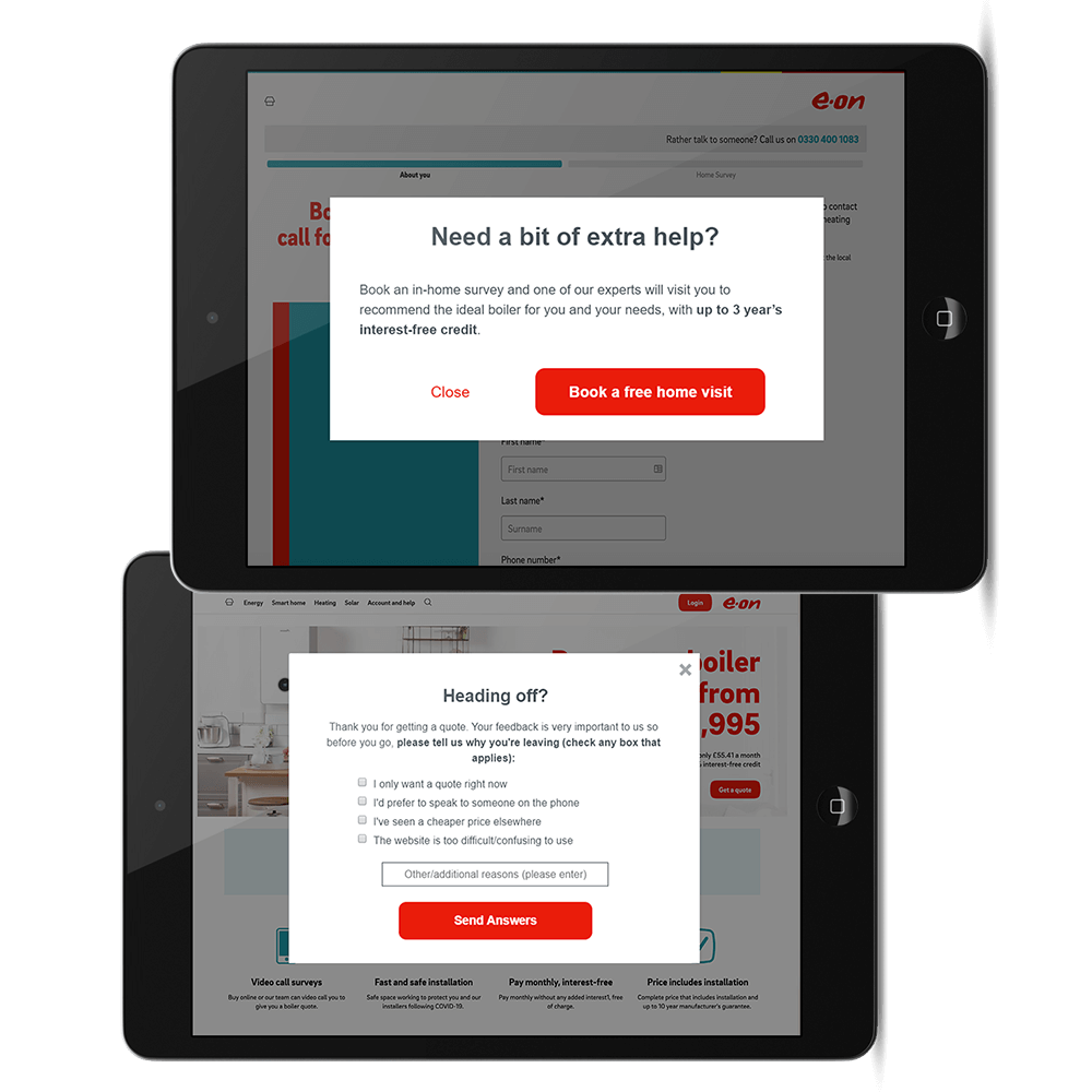 eon site on tablet