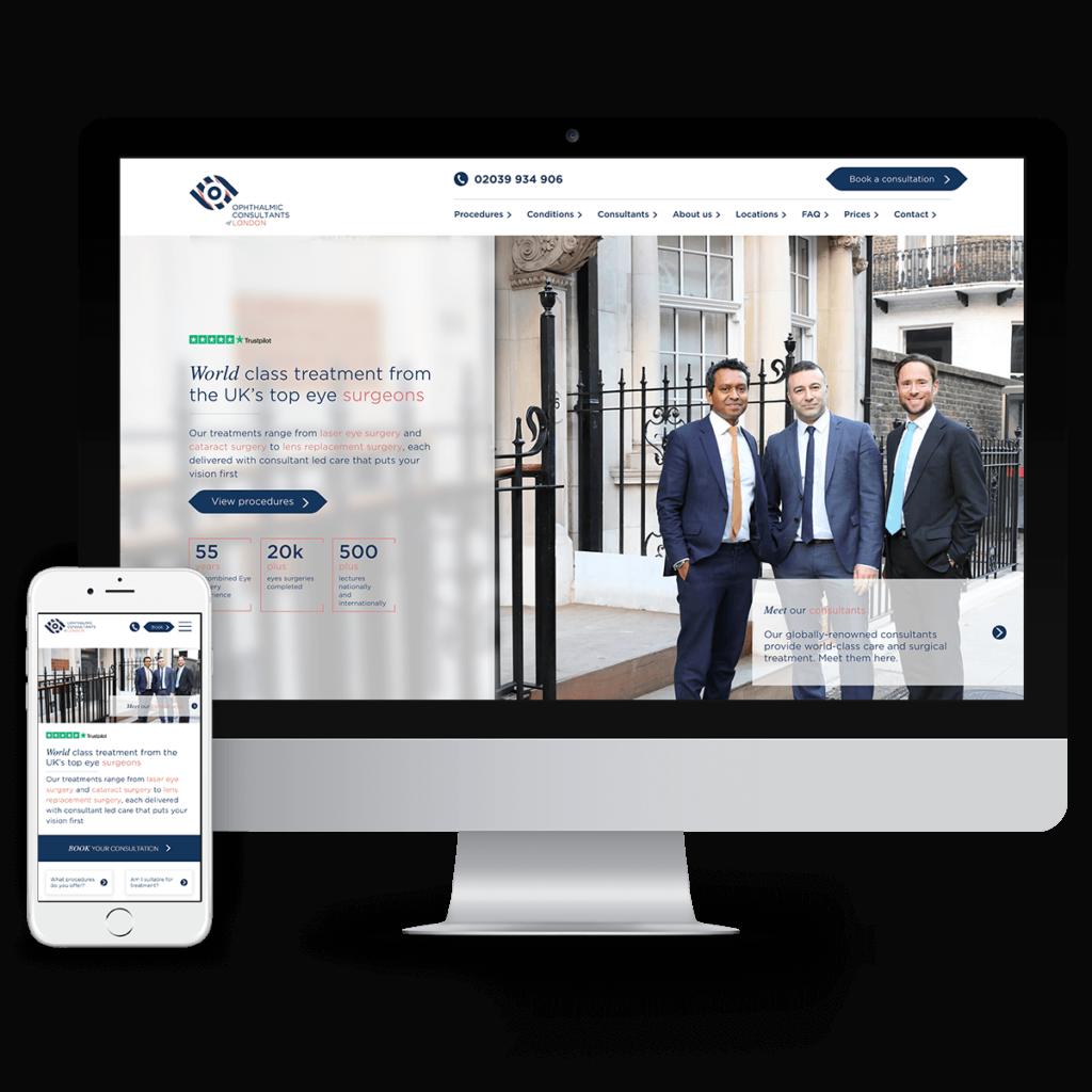 OCL Vision new website on desktop and mobile