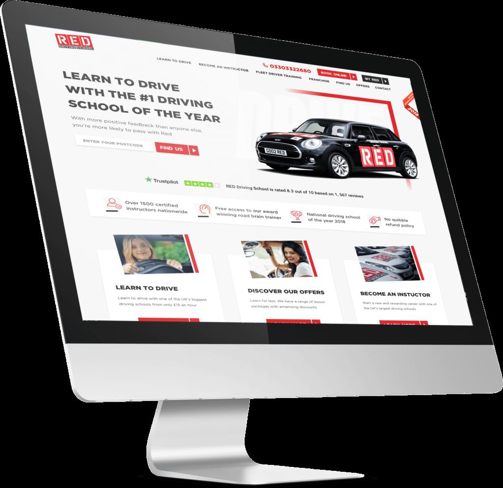 RED Driving School website design