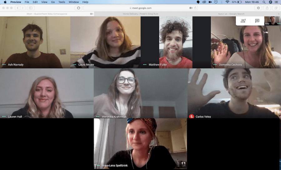 team videoconference